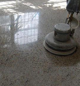 suelo de mármol pulido